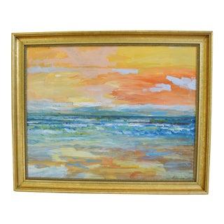 """Original Juan """"Pepe"""" Guzman, Ventura Ocean & Beach Oil Painting For Sale"""
