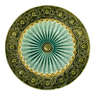 Art Deco Swedish Majolica Plate For Sale