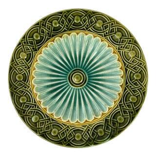Art Deco Swedish Majolica Plate For Sale