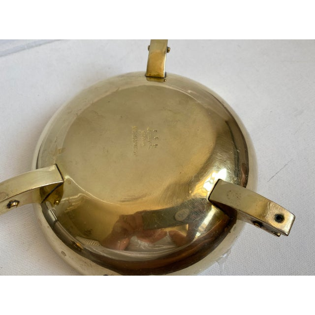 Mid 20th Century Mid 20th Century Salvador Teran Brass and Glass Tile Bowl For Sale - Image 5 of 6
