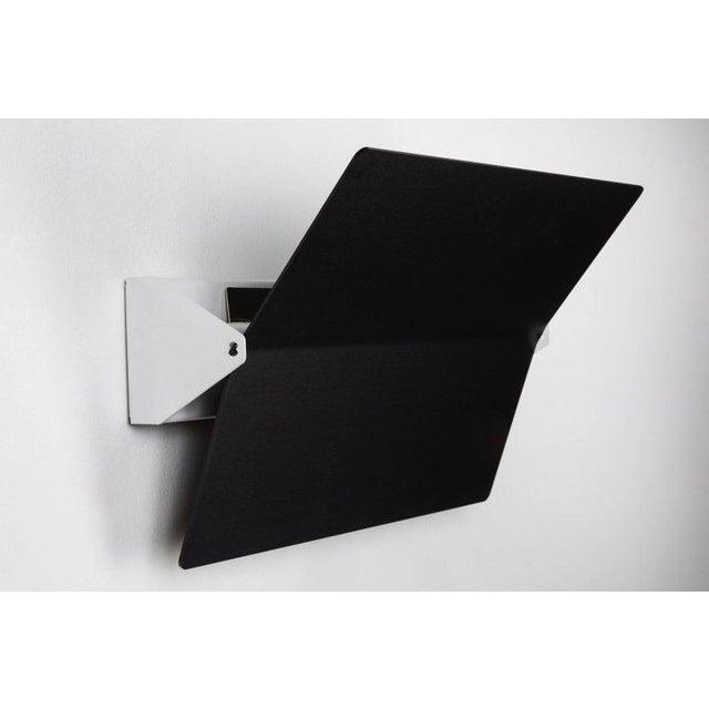 Cassina Large Charlotte Perriand 'Applique à Volet Pivotant Plié' Wall Light in Black For Sale - Image 4 of 8