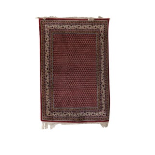 Vintage Indo Mir Halden Rug- 4′2″ × 6′1″ For Sale