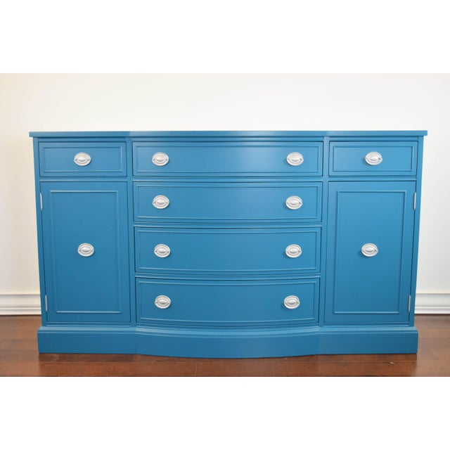 Teal Blue and Silver Sideboard For Sale - Image 11 of 11