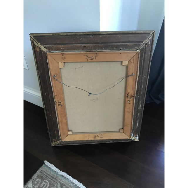 This is a vintage still life oil painting from the '50s. The piece comes framed. Amazing Vintage Find Primitive Oil...