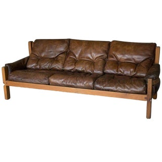 S32 Three-Seat Sofa, Pierre Chapo, France For Sale