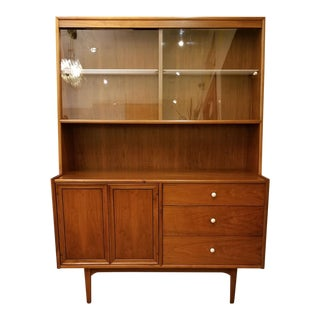 Drexel Declaration 2-Piece Lighted Display Cabinet W/ Glass Doors & Storage Cabinet by Kipp Stewart