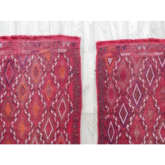 Pair Vintage Turkish Kilim Rug 1′8″ × 3′3″ For Sale In Dallas - Image 6 of 8