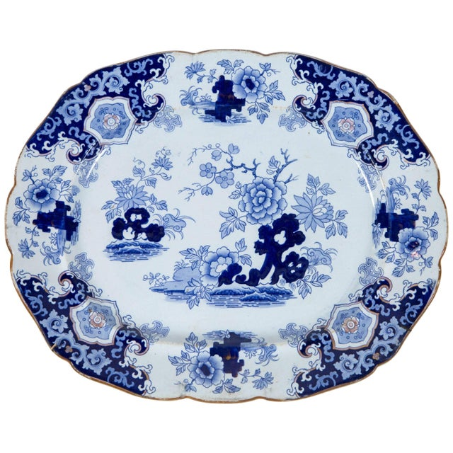 White Chinoiserie Ironstone Platter, Ridgway & Morley, England, Circa 1845 For Sale - Image 8 of 8
