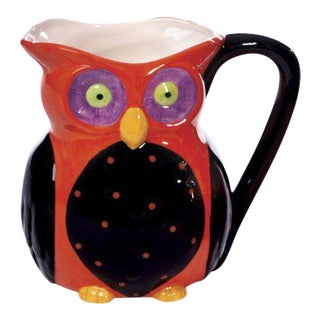 Dolomite Colorful Owl Pitcher