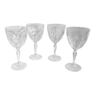 "Vintage Cristal D'Aques-Durand ""Washington"" Water Goblets/Glasses - Set of 4 For Sale"