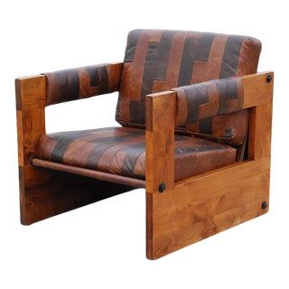 1970s Mid-Century Modern Sergio Rodrigues Style Club Chair For Sale