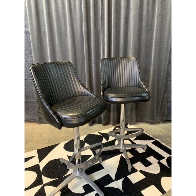 1960s Chromcraft Sculptura Swivel Stools - a Pair For Sale - Image 13 of 13