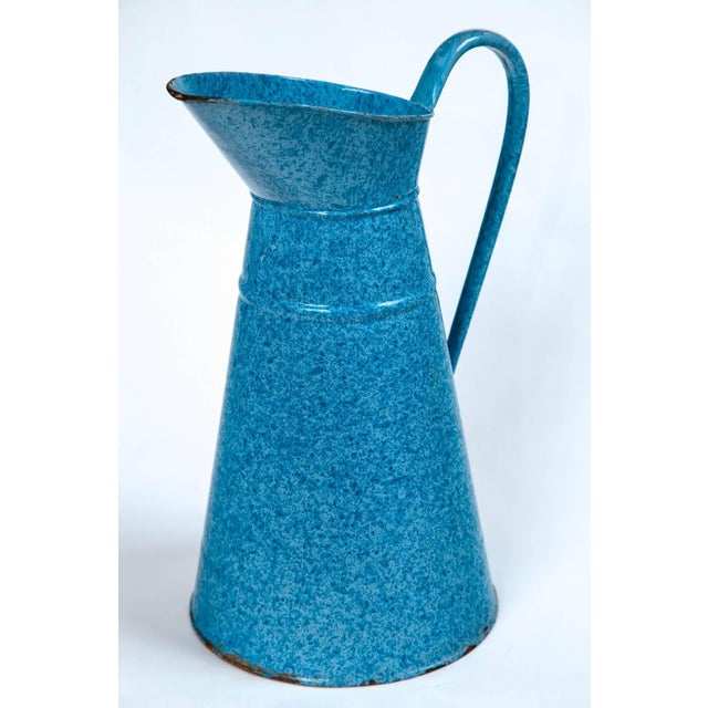 Early 20th Century Vintage French Enamelware Pitcher, Circa 1920 For Sale - Image 5 of 6