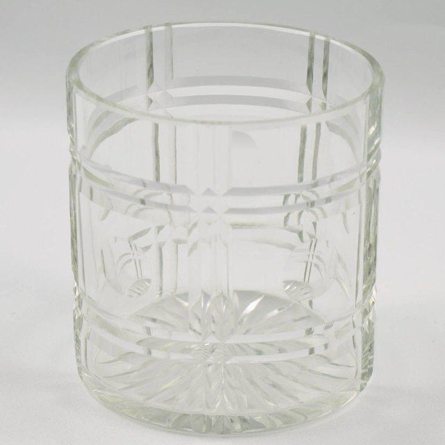 French Art Deco Silver Plate Preserve or Pickles Jar with Etched Crystal Insert - Image 6 of 8