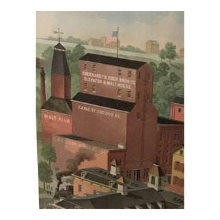 The Eberhardt & Ober Brewing Company Lithograph Print For Sale