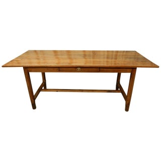 19th Century French Walnut Farm Table For Sale