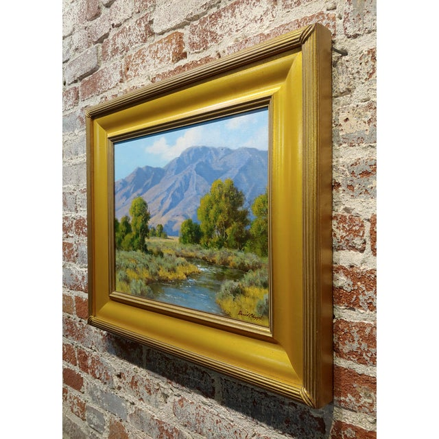 1980s David Chapple -View of the Owens Valley - Oil Painting For Sale - Image 5 of 7