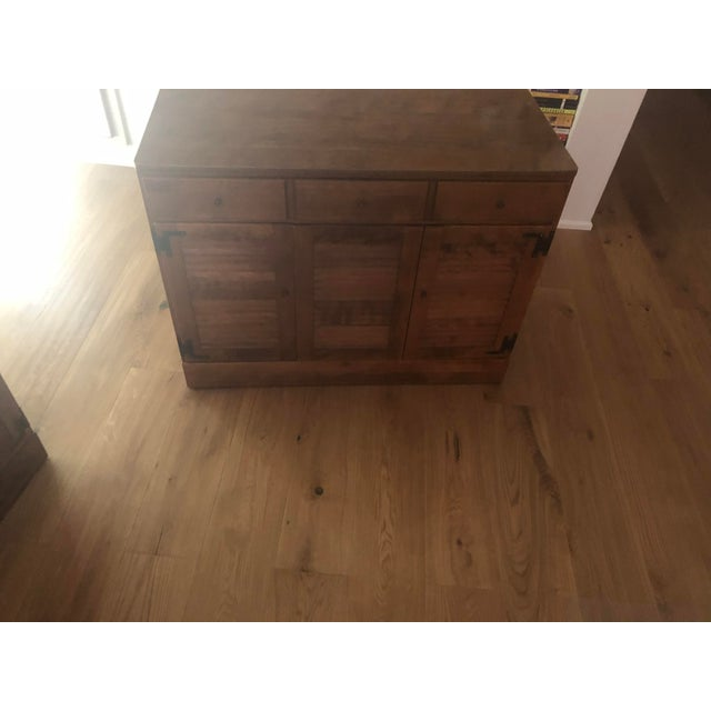 Late 20th Century Vintage Ethan Allen Wooden Dresser For Sale - Image 5 of 6