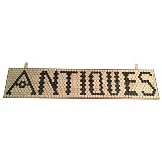 "Tile ""Antiques"" Sign For Sale"