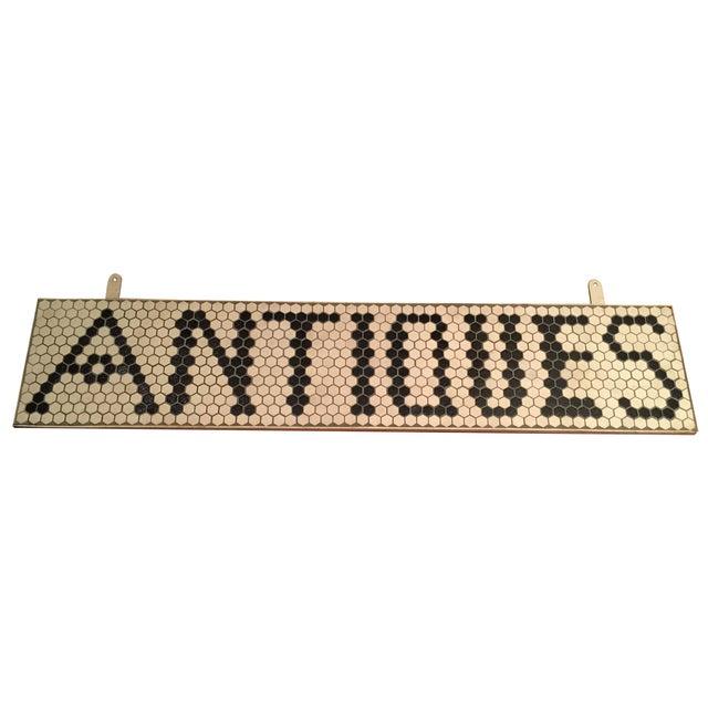 "Tile ""Antiques"" Sign For Sale"