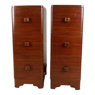 Modern Teak Wood Side Tables - A Pair For Sale