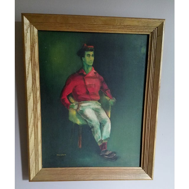 Mid-Century Fauvist Portrait of a Man - Image 2 of 8
