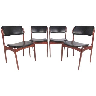 Erik Buch for Oddense Danish Teak Dining Chairs - Set of 4 For Sale