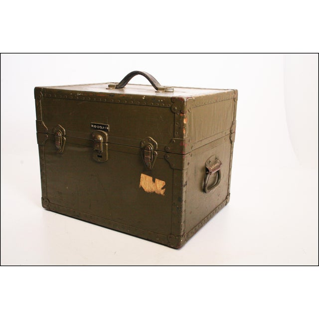 Vintage Industrial Green Military Hard Case - Image 2 of 11