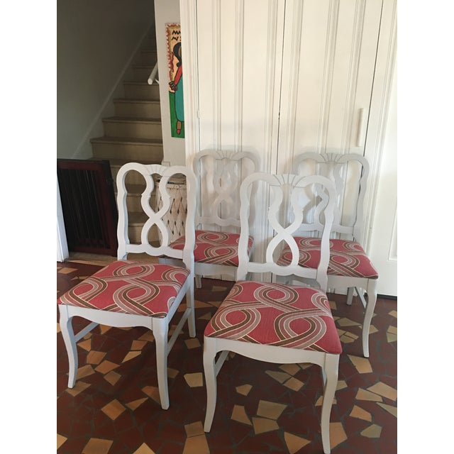 Dove Gray Ribbon Back Chairs - Set of 4 - Image 8 of 8
