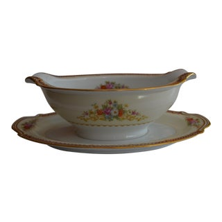 Noritake Japan Attached Gravy Boat