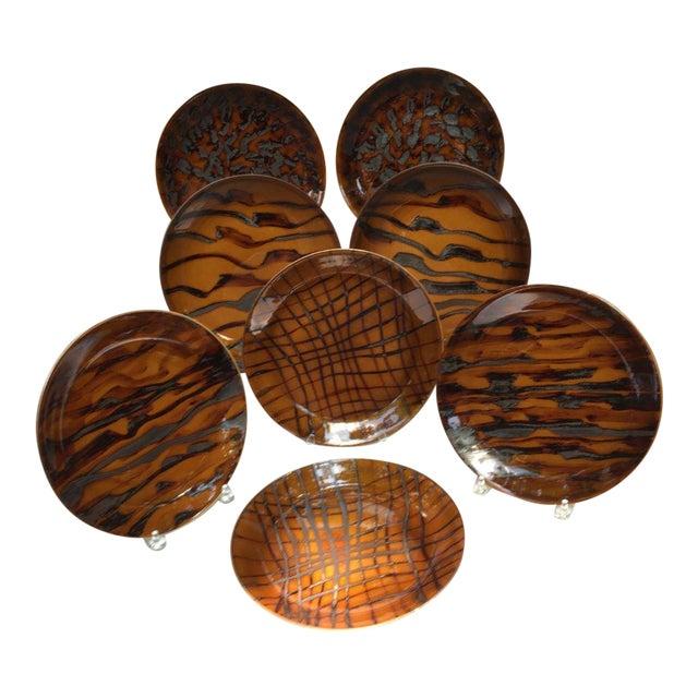 Contemporary Jaune De Chrome Dinner Plates - Set of 8 For Sale