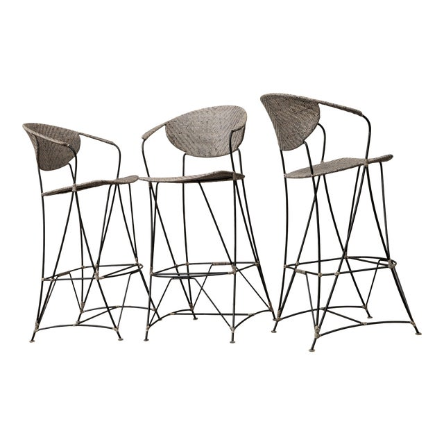 David Francis Indoor Zen Barstools - Set of 3 For Sale