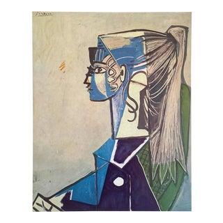 "Pablo Picasso Rare Vintage 1955 Authentic Lithograph Print "" Sylvette XIII "" 1954 For Sale"