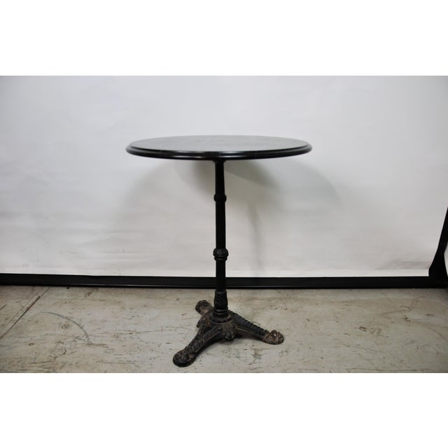 Italian Black Marble Bistro Table For Sale - Image 12 of 13