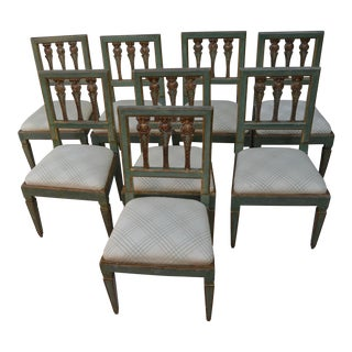 Venetian Green Dining Chairs - Set of 8