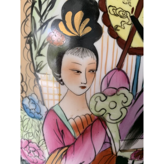 Metal Mid 20th Century Vintage Famille Chinese Porcelain Vase For Sale - Image 7 of 13