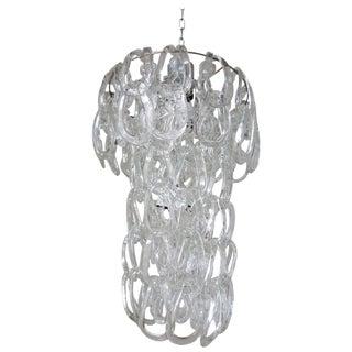 Italian Mid-Century Murano Glass Links Chandelier by Vistosi For Sale