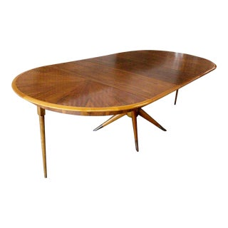 "Melchiorre Bega Midcentury Sculptural Teak and Beech Dining Table 100"" For Sale"