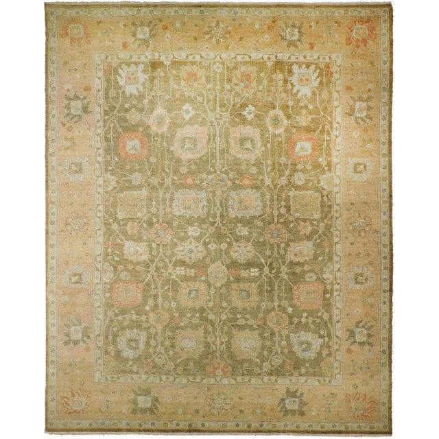"""Hand Knotted Indo-Ushak Floral Design Rug - 8'x 9'8"""" - Image 1 of 10"""