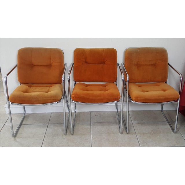 Vintage 1970s Mid Century Modern ChromeCraft Corp Chairs - Set of 3 For Sale - Image 13 of 13