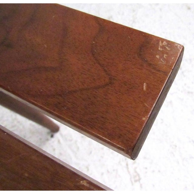 Mid-Century Modern Slat Bench Coffee Table For Sale - Image 9 of 11