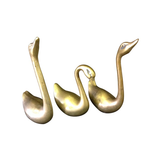 Brass Swans - Set of 3 - Image 1 of 4