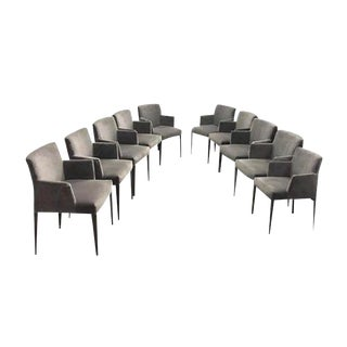 Antonio Citterio for B&B Italian Dining Armchairs - Set of 10 For Sale