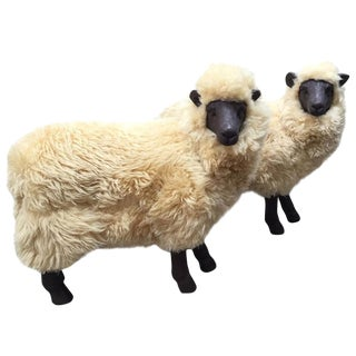 1960s Vintage Lalanne Style Sheep Sculptures - a Pair For Sale