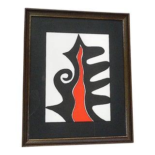 Vintage Mid-Century Alexander Calder Lithograph Print From Derriere Le Miroir For Sale