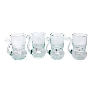 Vintage Gler í Bergvik Icelandic Glass Art Cups - Set of 4 For Sale