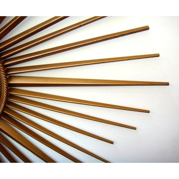 French Vintage Chaty Vallauris French Sunburst Mirror For Sale - Image 3 of 6
