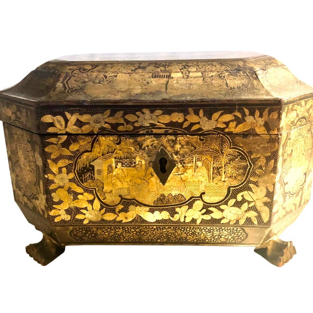 19th Century Chinese Tea Box For Sale - Image 4 of 11