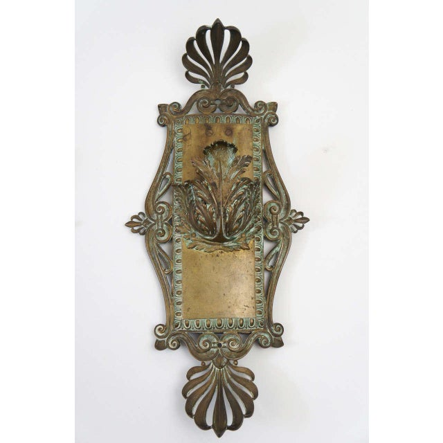 Neoclassical Bronze Neoclassical Beaux-Arts Wall Sconces, Circa 1910 For Sale - Image 3 of 7