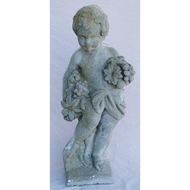 1950s Concrete Cherub Garden Statue - Image 2 of 11